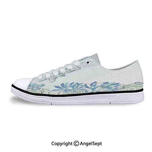 Sneaker Dragonflies Simplistic Design Eco Nature Flat Canvas Shoes for Womens