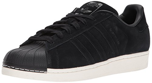 adidas Originals Men's Superstar Foundation Casual Sneaker, BLACK SUEDE/BLACK/BLACK, 10 D(M) US