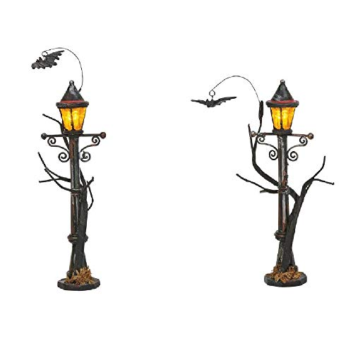 Department 56 Village Collections Accessories Halloween Haunted Street Lights Figurines, 4.875