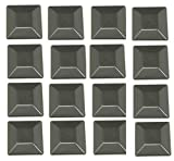 JSP Manufacturing 16 Pack Fence Post Plastic Black Caps 4X4 (3 5/8