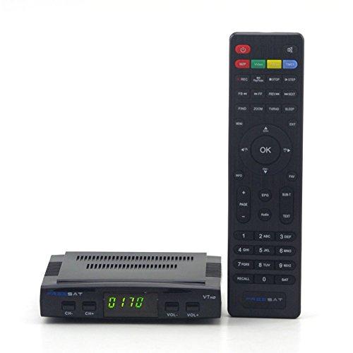 ESHOWEE Freesat V7 HD Satellite TV Receiver DVB-S2 Support USB Wifi Set Top Box PVR EPG PowerVu DRE & Biss Key for 1080P TV HDTV