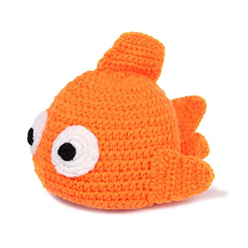 Sunward Baby Newborn Boy Girl Cartoon Crochet Knit Hat Costume Photography Prop (Goldfish) (Infant Goldfish Costume)