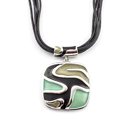 - LookLove Womens Jewelry Pendant Necklace with Cord Removable Pendant Necklace Hand Painted 17