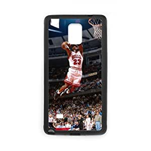 YUAHS(TM) Customized Hard Back Phone Case for Samsung Galaxy Note 4 with Michael Jordan YAS883089