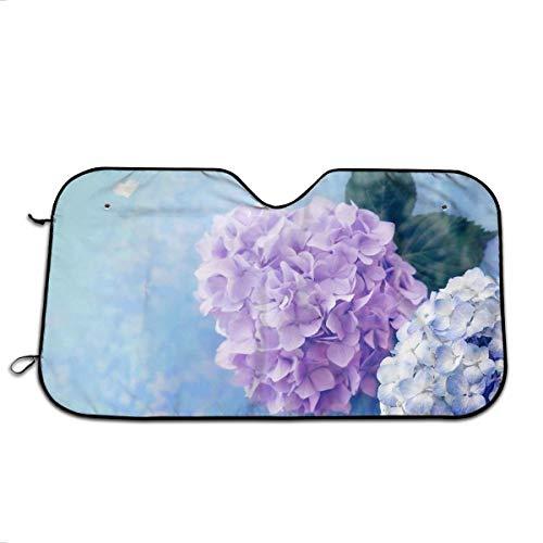 - Hydrangeas Flowers Adiabatic Car Sunshade, Windshield Sun Shade - Auto Sunshade for Car Truck SUV
