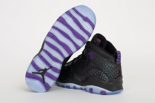Nike Air Jordan 10 Retro Big Kids Style Negro / Fierce Purple Black