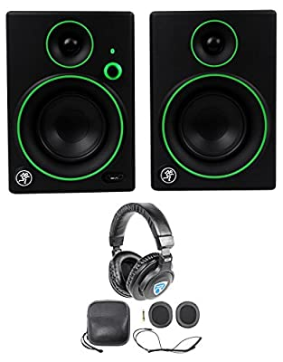 "Pair Mackie CR4BT 4"" Studio Monitors/Computer Speakers with Bluetooth+Headphones from Mackie"
