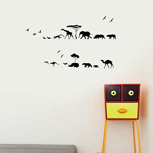 lpemze Wall Decal Sticker Art Mural Home Decor Animal Parade for Nursery Kids Room