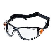 Sellstrom S71912 XPS502 SAFETY GLASSES - INDOOR/OUTDOOR HARD COAT, FR CLOTH STRAP, BLACK / ORANGE