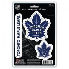 (NHL Toronto Maple Leafs Team Decal, 3-Pack)