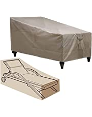 Patio Chaise Lounge Covers,Heavy Duty Outdoor Chaise Lounge Covers,600D Durable Patio Furniture Cover for Beach Pool Chair.Anti-UV & Windproof.All Weather Protection