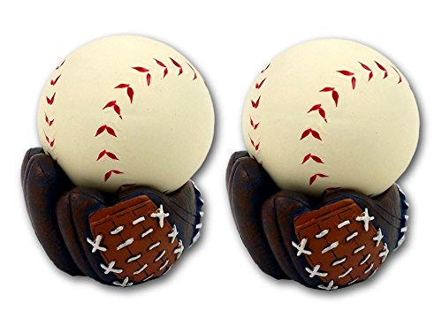 with Baseball Glove Stand, 2PACK (Baseball Stress Ball)
