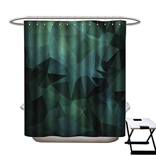 warmfamily Funny Shower Curtain Abstract Vector Background of Triangles Polygon Wallpaper Shower CurtainW69 x L75