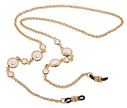 L. Erickson Daphanie Eyeglass Chain - Crystal/Gold by L. Erickson