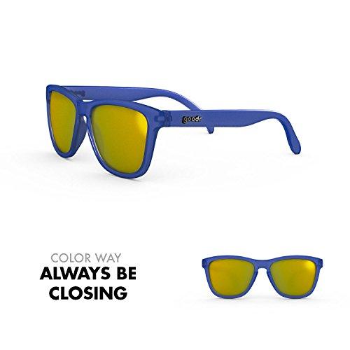 goodr RUNNING SUNGLASSES - No Slip, No Bounce, UV Polarized (Always Be Closing, - Always Closing
