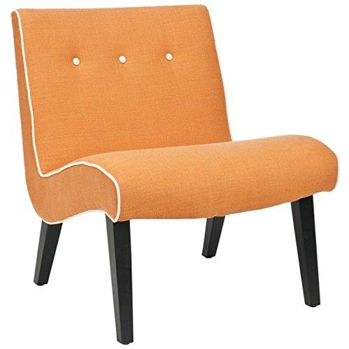 Safavieh Mercer Collection Owen Mid-Century Modern Orange Lounge Chair For Sale