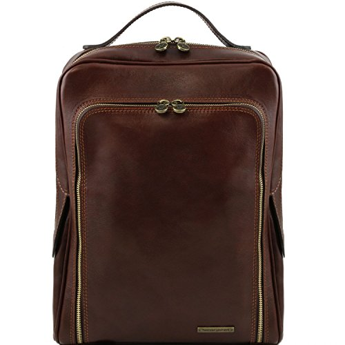 laptop Tuscany backpack Bangkok Honey Dark Tuscany Leather Brown Leather Leather ZX5qZCw