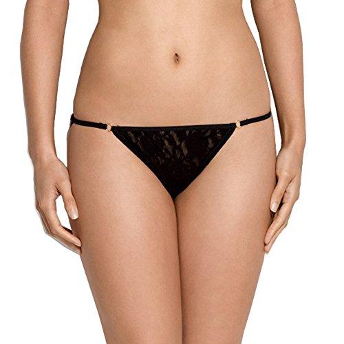 Hanky Panky Women's Signature Lace String Bikini, Black, X-Small