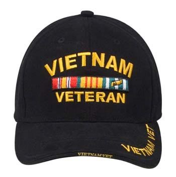 6d2f08a05 Amazon.com: Military Caps Vietnam Veteran Logo Baseball Cap, Black ...