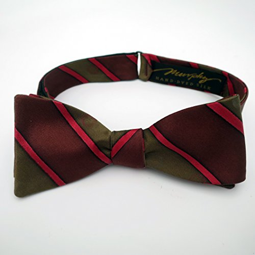 100% Silk Hand-Painted Hand-Made Men's Self Tie Bow Tie ''Champagne'' Art to Wear by Murphyties by Murphyties Inc.