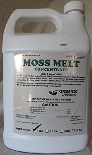 Moss Melt Organic Moss and Algae Treatment- 1 Gallon (Brick Patio Border Concrete And)