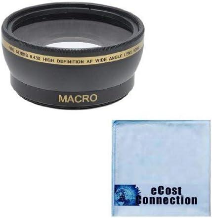 Microfiber Cloth for Nikon D3000 D3100 D3200 D3300 D5000 D5100 D5200 D5500 D7000 D7100 D7200 D600 D610 D700 D800 D90 DSLR and More Models Pro Series 52mm 2.2X High Definition AF Telephoto Lens