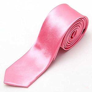 SysPod(TM) New Necktie Skinny Tie Neckwear New Men's Solid Color Plain Silk Narrow Arrow