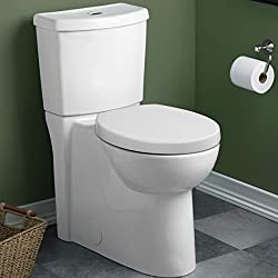 American Standard 2795.204.020 Studio Concealed Trapway Dual Flush Right Height Round Front Toilet, White