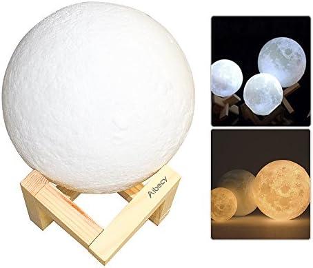 Lámpara led de luna recargable