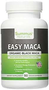 Summus Naturals Organic Black Maca – Boost Sexual Performance & Stamina, Increase Mental Focus, Energy & Memory – 100% All Natural, Vegan, Gluten Free, Soy Free & Made in USA