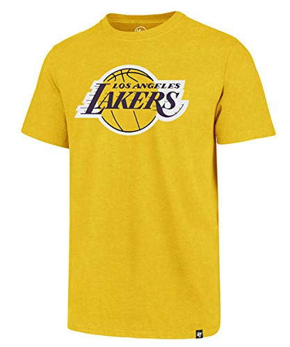 - '47 Los Angeles Lakers Brand Primary Logo T-Shirt (X-Large, Galley Gold)