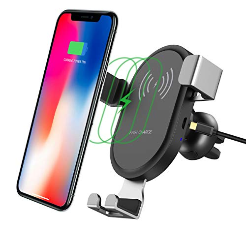 - Wireless Charger Car Mount Mobile Phone Holder Adsorption Tech Certificated Fast Charging Qi Low Temperature 360°Rotation Air Vent Mount Car Cradle for iPhone X/8/8 Plus Samsung Galaxy S8/S8 Plus/S7