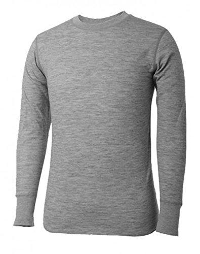 - Terramar Men's Tall Merino Wool Long Sleeve Crew Grey Heather XLT