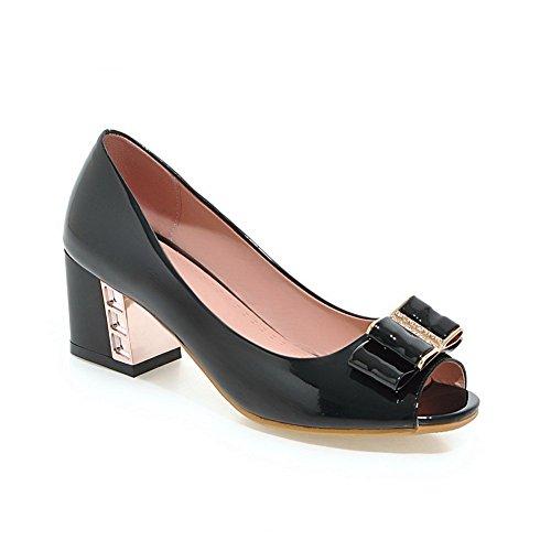 Adee Ladies electroplate talón pantalones de poliuretano Sandalias Negro - negro