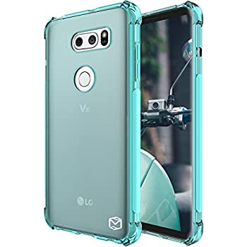 LG V30 Case, LG V30 Plus Case, LG V30+ Case, MP-MALL [Slim Thin] Flexible TPU Gel Rubber Soft Skin Silicone Protective Case Cover For LG V30 / V30 Plus / V30+ (Mint)