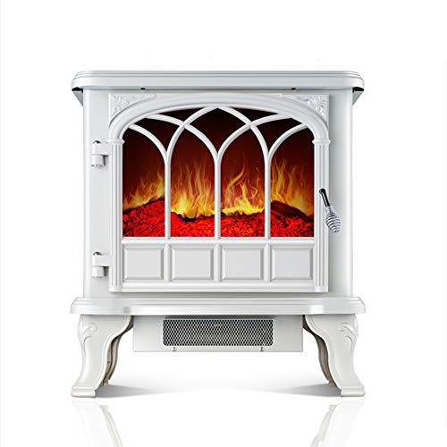 Cheap XUERUI Heater Remote Control Electric Stove Realistic Flame Effect Electric Stove Heater Electric Fireplace-White (Size : 64.54065cm) Black Friday & Cyber Monday 2019