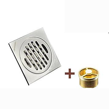 ZXHSS Invisible de cobre anti-olor piso drenaje anti ...