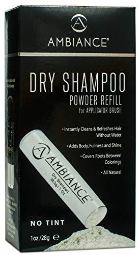 Ambiance Dry Shampoo 1oz Refill (No Tint/Gray Hair Formula) - All-Natural, Volumizing Powder to Replenish Your Existing Ambiance Dry Shampoo Applicator Brush