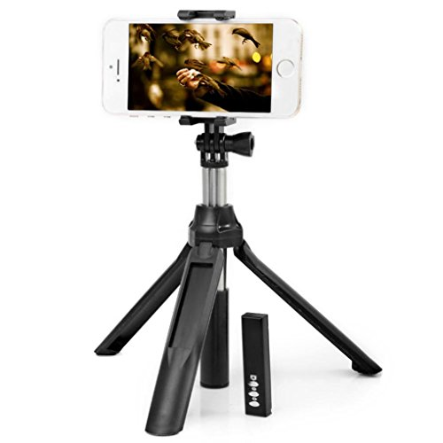 Price comparison product image DZT1968 Wireless Bluetooth 4.0 Stereoscopic Multi-Function Handheld Self-portrait (black)