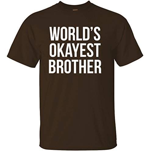 Adult World's Okayest Brother Funny Siblings tee for Brothers T Shirt 3X-Large Dark ()