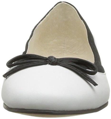 Buffalo London 207-3562 PATENT LEATHER 122815 - Bailarinas de cuero para mujer Blanco (Weiß)