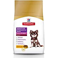 Hill's Science Diet Dry Dog Food, Adult, Sensitive Stomach & Skin, Small & Mini, Chicken Recipe, 15 lb bag