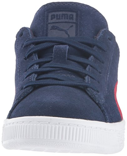 Puma Suede Classsic Badge Ps - Zapatillas de Piel para niño morado cabernet Peacoat-toreador