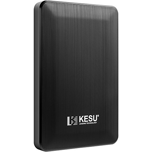 2.5'' 250GB Ultra Slim Portable External Hard Drive USB3.0 HDD Storage for PC, Mac, Desktop, Laptop, MacBook, Chromebook, Xbox One, Xbox 360, PS4(Black) by KESU