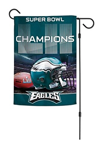 WinCraft NFL Philadelphia Eagles Super Bowl LII Champions 2-Sided Garden Flag