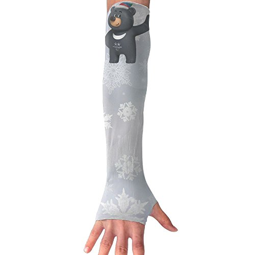Bandabi Pyeongchang 2018 Winter Olympics Mascot Cooling Arm Compression Long Sleeve Sun Guard - For Women, Men, Kid & Youth - For Outdoor Cycling (Temporary Tattoos Mascots)