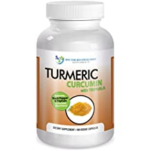 Turmeric Curcumin-2250mg/d-180 Veg Caps-95% Curcuminoids w/Black Pepper Extract (Piperine) - 750mg capsules - 100% ORGANIC Turmeric - with Triphala