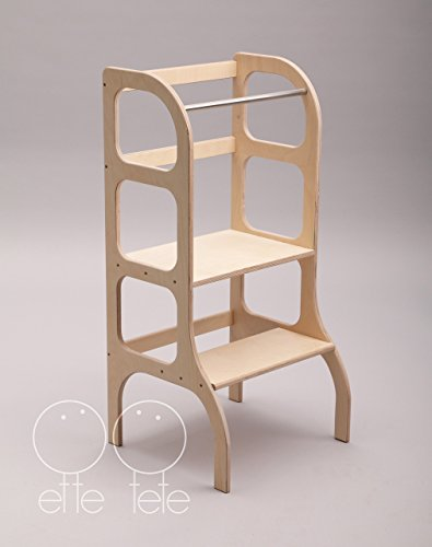 Little helper tower, toddler kitchen step stool, Montessori learning stool, WOODEN by Ette Tete