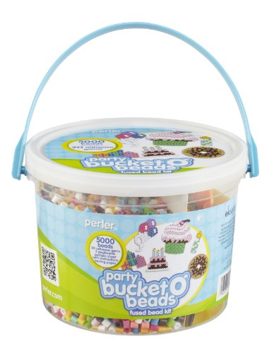 Perler Bucket O' Beads Fun Fusion Fuse Bead Kit-Party (Perler Bucket Beads)