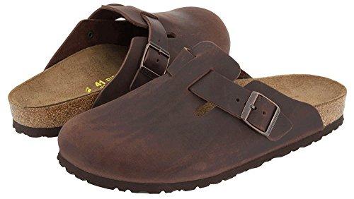 Birkenstock Boston Clog Sandal Shoe - Habana Oiled Leather - Mens - 43